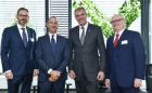 Rainer Seele, CEO of OMV Aktiengesellschaft, Marco Alverà, CEO of Snam S.p.A., as well as the Managing Directors of TAG GmbH, Daniele Gamba and Rudolf Starzer