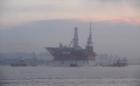 An offshore ice-resistant stationary platform in Prirazlomnaya