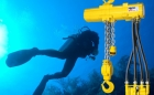 Purpose designed hoists are suitable for heavy duty underwater operation