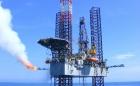 shallow gas oil platform