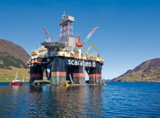 Semisubmersible drilling rig Scarabeo 8.