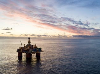 The Snorre A platform in the North Sea. (Photo: Bo B Randulff - Even Kleppa / Equinor ASA)