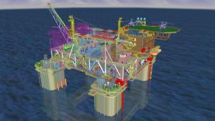 3D model illustration of Chevron's Anchor FPU.