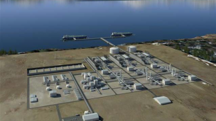The proposed liquefacation plant at the Alaska-LNG project