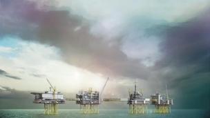 Johan Sverdrup oil field in the North Sea