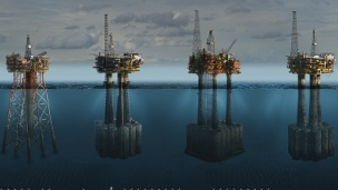 Brent oil and gas field in the North Sea