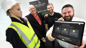 Councillor Graeme Miller, leader of Sunderland City Council, Mark Boyle, Technical Director at Fari Consulting and Martin Lawson, director at Fari Consulting.