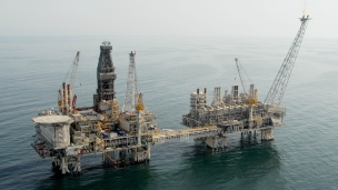 BP operated Central Azeri platform in the Azerbaijan sector of the Caspian Sea