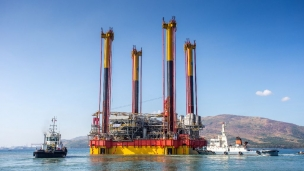 During a 48 hour operation, Mammoet recently installed the Malampaya Phase 3 Depletion Compression Platform in the West Philippine Sea for its client Shell Philippines Exploration b.v.