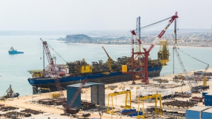 Eni contracted FPSO arrives at Angola yard