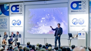 Professor Brian Cox speaking at SPE 2015