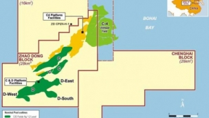 Offshore drilling starts in China's Zhanghai block