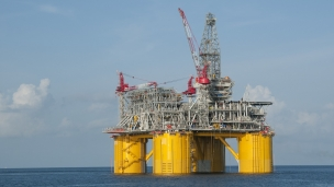 Shell rig in Gulf of Mexico