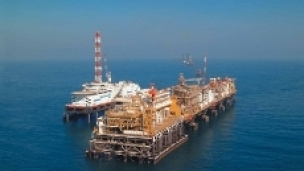 The Umm Lulu Oil Field offshore Abu Dhabi