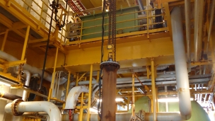 When the seawater pump on an offshore rig needed replacing, an air hoist supplied by materials handling specialists J D Neuhaus, was on hand to provide safe lifting of the components