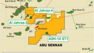 "Kuwait Energy has completed testing at the Al Jahraa-3 oil appraisal well in the Abu Sennan Concession onshore Egypt, with the well cased and completed as an Abu Roash ""C"" member oil producer"