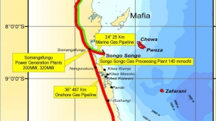 Aminex has been informed by the Tanzanian Petroleum Development Corporation (TPDC) that the new regional pipeline to Dar es Salaam is now complete and hydrostatic pressure testing will begin shortly