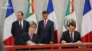 GDF Suez, Total and Pemex have established an understanding to work together on future common development projects such as natural gas infrastructure facilities, gas liquefaction facilities, and gas to power plants.