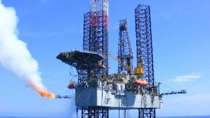 shallow gas oil platform
