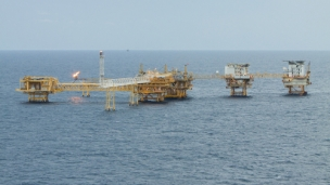 Offshore oil and gas drilling block