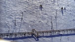 A Russian gas pipeline